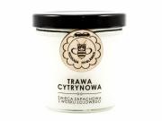 Świeca z wosku sojowego TRAWA CYTRYNOWA, Miodowa Mydlarnia