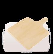 Kamień do pizzy, prostokątny 38x30 cm, z drewnianą łopatą Leifheit