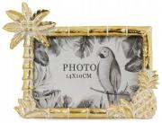 Ramka dekoracyjna stojąca palmy /ananas złota