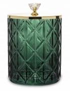 Pojemnik dekoracyjny szklany zielony