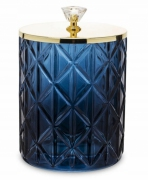 Pojemnik dekoracyjny szklany niebieski