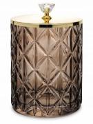 Pojemnik dekoracyjny szklany złoty