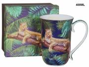 Kubek porcelanowy Tropical Collection 400 ml w pudełku