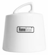Cukiernica z pokrywką z dziurką porcelana HomeDelux Quatre HD12059