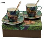 Komplet 2 filiżanek do espresso 80ml Tropical Colection