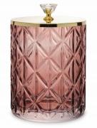 Pojemnik dekoracyjny szklany różowy