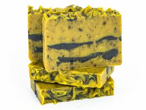 Mydło naturalne - karotka z miodem i olejem migdałowym, Miodowa Mydlarnia
